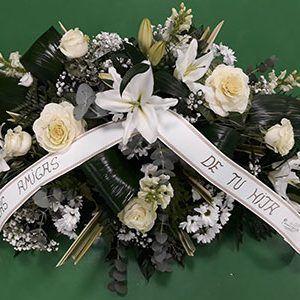 Almohadon funerario blanco