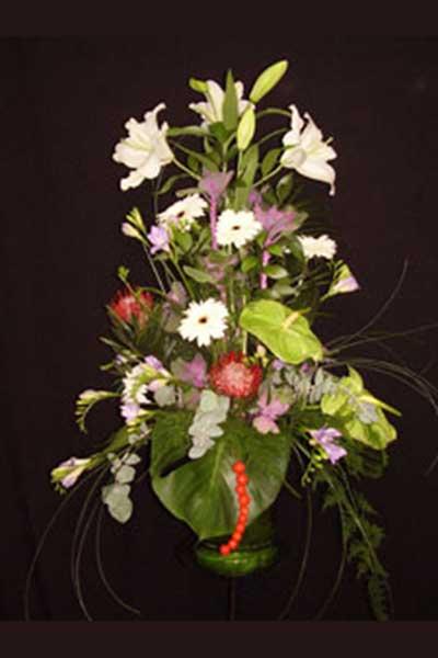 Centro flor elegante