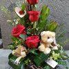 Centro rosas peluche