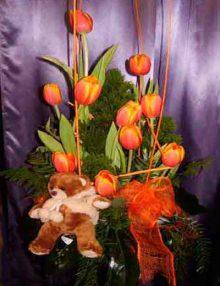 Centro tulipanes 01 Ainara Floristas