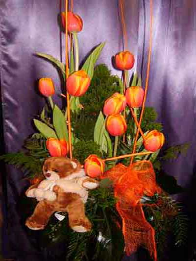 Centro nacimiento tulipanes