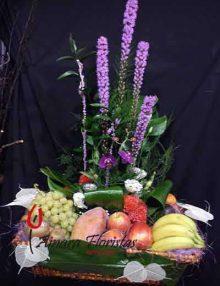 Cestas frutas flores