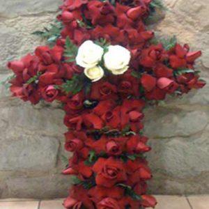 Cruz de rosas