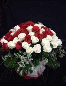 Jarrón de rosas De Luxe