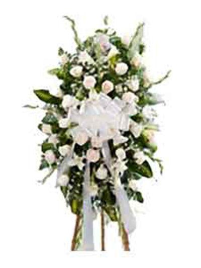 Palma rosas blancas 1