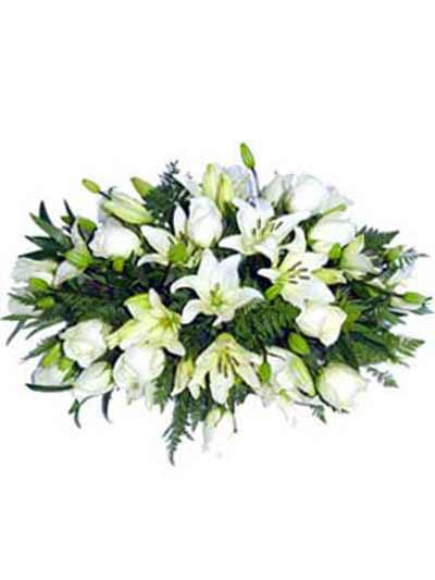 Almohadón flor blanca