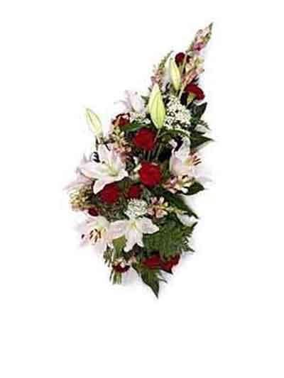Ramo funerario rosas y lilium