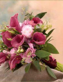 Ramo de novia Calas-Lisianthus