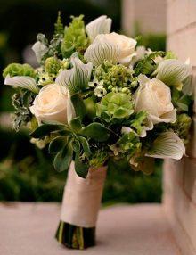 Ramo novia orquideas-rosas
