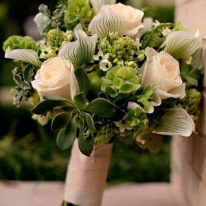 Ramo novia orquideas rosas N 37