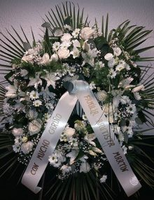 Corona flor blanca