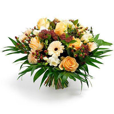 Bouquet tonos ocres
