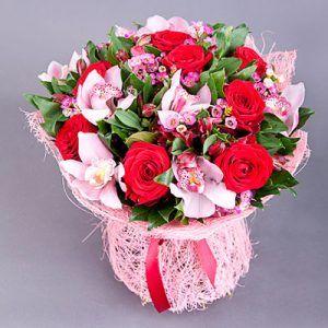 Bouquet rosas y orquideas
