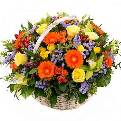 Cesta flores variadas