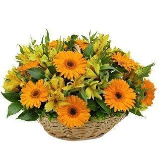 Centro flores Mandarina