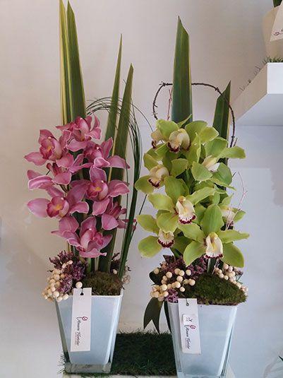 Centros flor orquideas