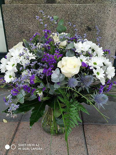 Jarrón floral Violeta